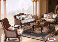 978 Combo 3 Pcs. | Victoria Brown Living Room