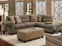 Fandango Mocha Sectional Living Room