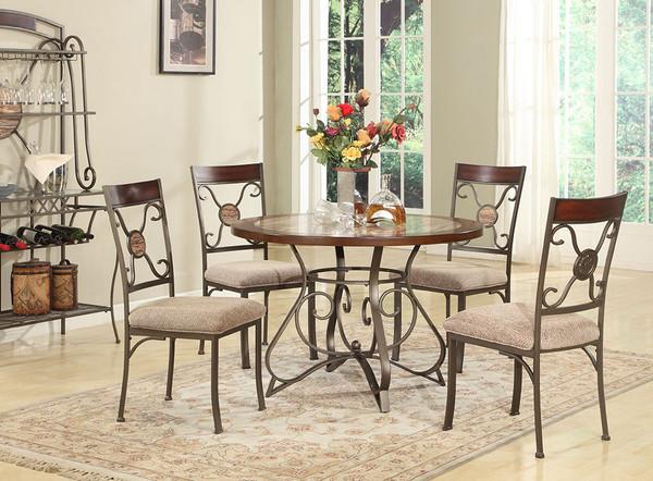 Juego de Comedor de 6 piezas. Incluye mesa, tope de la mesa y 4 sillas.