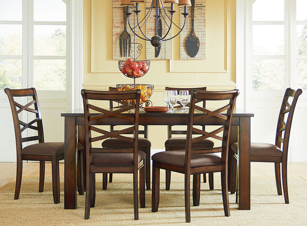 61970 redondo dining room set berrios te da m s for Comedor 5 piezas