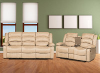 844 Beige Reclining Living Room
