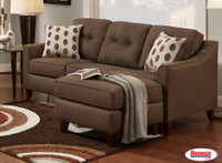 65029 Sofa Chaise Chocolate