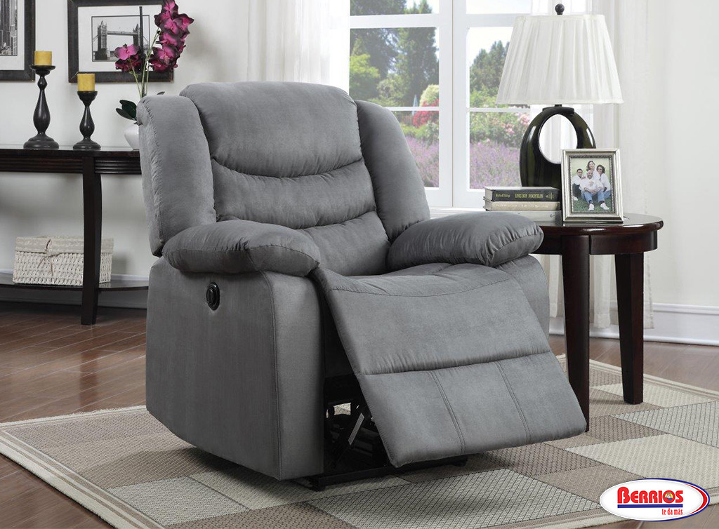 61947 Recliner Power Micro Grey   Berrios Te Da Más