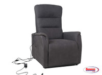 62232 Gray Recliner with Electric Lifting