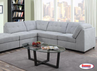9377 Gray Sectional Living Room