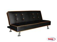 63059 Becca Sofa Bed - Black & Orange