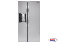 66138 LG 26 cu. ft. Ultra Capacity Side-by-Side Refrigerator with Ice & Water Dispenser