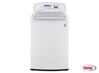66139 LG White 4.9 cu.ft. MEGA Capacity High Efficiency Top Load Washer