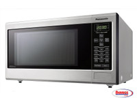 71114 Panasonic Stainless 1200W 1.2 Cu. Ft. Countertop Microwave Oven with Inverter Technology