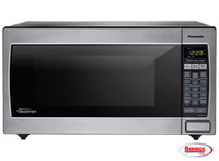 71116 Panasonic Stainless 1250W 1.6 Cu. Ft. Countertop Microwave Oven with Inverter Technology