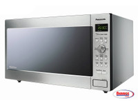 71113 Panasonic Stainless 1250W 2.2 Cu. Ft. Countertop/Built-in Microwave with Inverter Technology