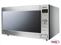 71112 Panasonic Stainless 1250W 1.6 Cu. Ft. Countertop/Built-in Microwave with Inverter Technology
