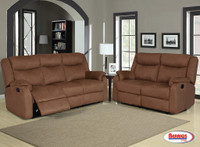 9303 Chocolate Reclining Living Room