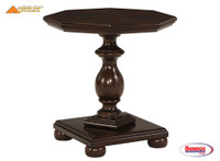 62835 Roddinton Octagon End Table in Dark Brown