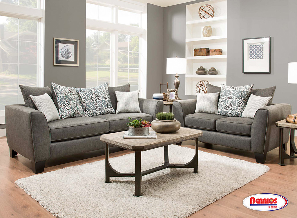 356 Liam Charcoal Grey Living Room Set   Berrios Te Da Más