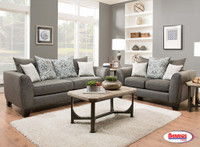 356 Liam Charcoal Grey Living Room Set