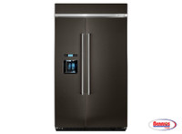 "71502 Kitchenaid | Nevera ""48 in. 29.5 cu. ft. Side by Side Refrigerator in Black Stainless"""