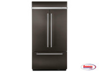 "66282 Kitchenaid | Nevera 24.2 Cu. Ft. ""Width Built-In Stainless French Door with Platinum Interior Design"""