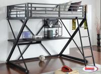 0178 Loft Bed Sandy Black