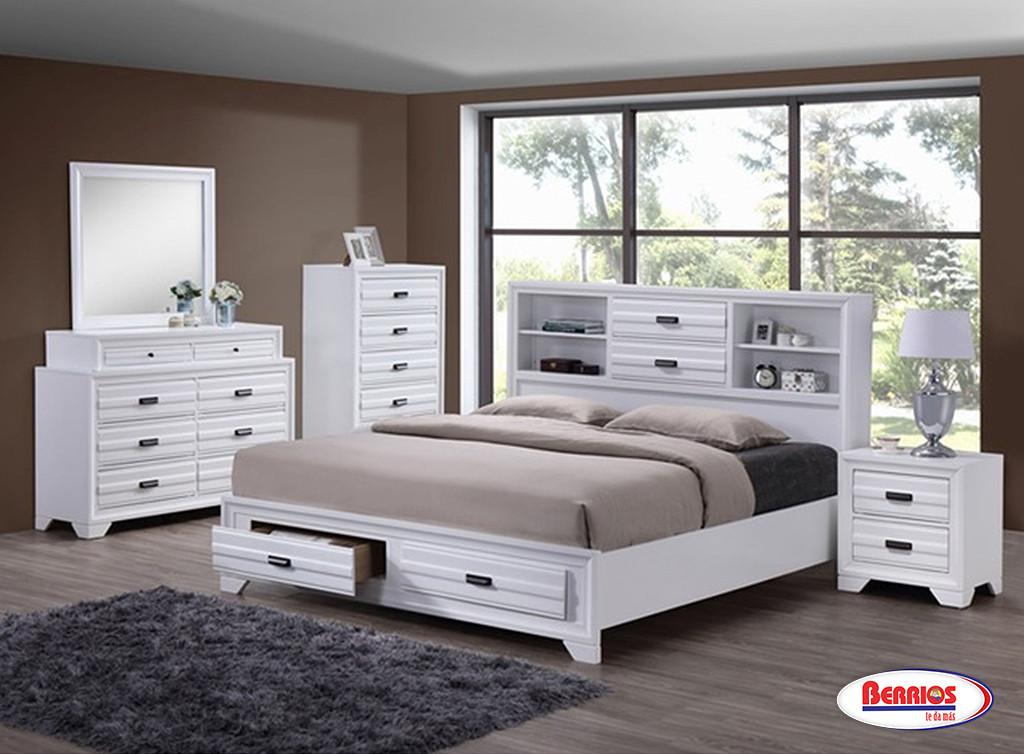 5236 white bedroom berrios te da m s for Juego de cuarto queen size