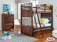 1010 Chocolate Bunk Bed Twin