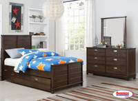 562 Omaha Dark Brown Juvenile Bedroom