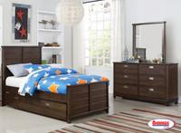 562 Omaha Dark Brown Juvenile Bedroom