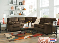 Combo 8 Pcs. | 95403 Dailey Chocolate Sectional Living Room