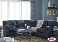 Combo 8 Pcs. | 95402 Dailey Midnight Sectional Living Room