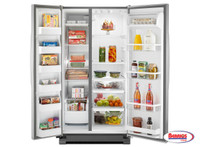 62269 Whirpool | 21. cu. ft. Side by Side Refrigerator in Monochromatic Stainless Steel