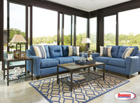66903 Nuvella Blue Living Room
