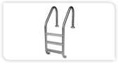 INTER-FAB | 3 STEP LADDER STAINLESS STEEL TREAD | RES | L3049S (L3049S )