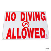 "MAINTANCE LINE | 12""X18"" SIGN NO DIVING ALLOWED 