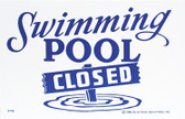"MAINTANCE LINE | SIGN POOL CLOSED | POOL SIGN | 12""x6"" 