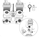 FROG KING TECHLOLOGIES | CONTROL DIAL WITH O-RING KIT |  (400 | 430 | 600 | 630 | 1229446 | 1/22/9446