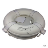 "MAINTANCE LINE | 24"" WHITE FOAM RING BUOY CGA 