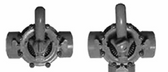 CUSTOM MOLDED PRODUCTS | COMPLETE GRAY PVC VALVE,-WAY, 1-1/2 SLIP, 2 SPIGOT | 25932-151-000