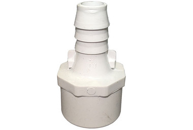 "Waterway | PVC ADAPTER | 1"" SLIP OR 1-1/4"" SPIGOT X 3/4"" RIBBED BARB 