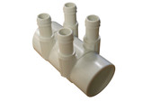 "Balboa Water Group | MANIFOLD | 4-PORT 2"" SLIP X 2"" SPIGOT X 3/4"" BARB 