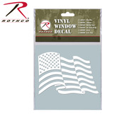 White Waving Flag Decal