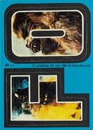 1980 Topps Empire Strikes Back Series 2 Sticker Set (33)