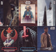 2016 Topps Star Wars The Force Awakens Series 2 Set + 5 Chase Sets (163)