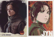 2016 Topps Star Wars Rogue Series 1 Set + Character Icon Set (101)