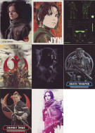 2016 Topps Star Wars Rogue Series 1 Set + 7 Chase Sets (155)