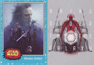 2017 Topps Star Wars Journey to The Last Jedi Set +  Darkness Rises Set (116)