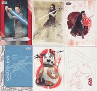 2017 Topps Star Wars  The Last Jedi Set +  5 Chase Sets (141)