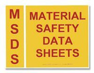 MSDS Binder Spine And Cover Label Set