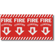 "Extinguisher sign, wrap around pole marking, 24.5"" w x 12.5"" h vinyl"