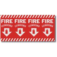 """Extinguisher sign, wrap around pole marking, 24.5"""" w x 12.5"""" h vinyl"""