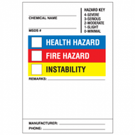Super Sticky HazCom Labels, 25/Pkg